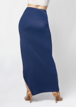 Falda abertura pierna negra