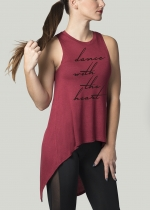 "Camiseta ""dance with the heart"" burdeos"