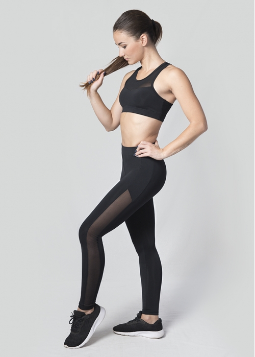 Legging transparencias laterales
