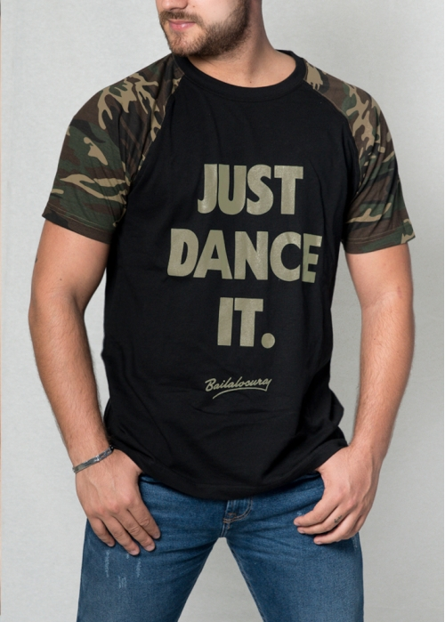 camiseta JUST DANCE IT manga militar