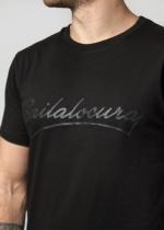 Camiseta bajo simíl piel negra