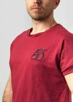 Camiseta Bachata Sensual bordado BS burdeos