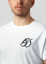 Camiseta Bachata Sensual bordado BS blanca