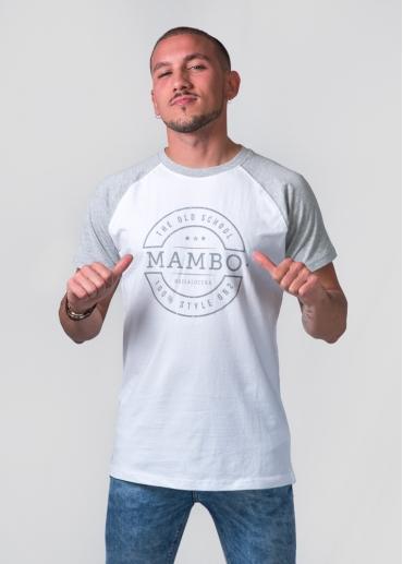 Camiseta Mambo blanca/gris