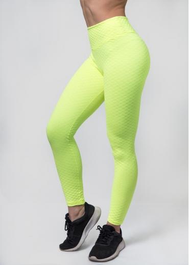 Leggings textura amarillo fluor