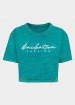 Camiseta Bachatera Feeling turquesa