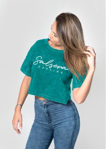 Camiseta Salsera Feeling turquesa