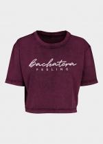 Camiseta Bachatera Feeling ciruela