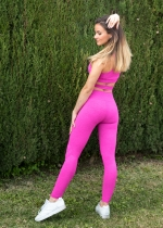 Leggings rosa jaspeado