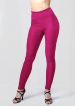Leggings textura rosa fucsia