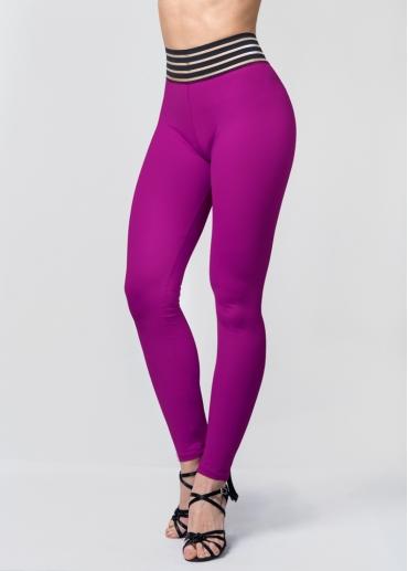 Leggings waist púrpura