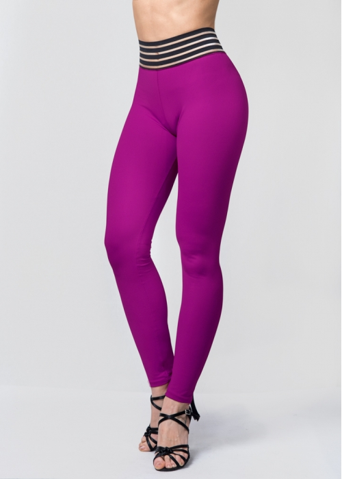 Leggins waist púrpura