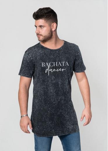 Bachata dancer acid wash man t-shirt