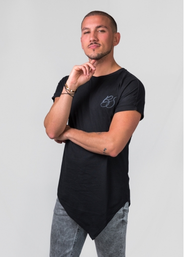 Bachata Sensual BS embroidery black t-shirt