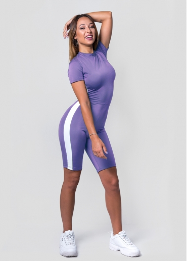 Andrea Biker Lilac Jumpsuit