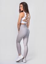 Grey ruffled leggings