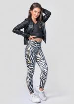 Zebra yellow details leggings