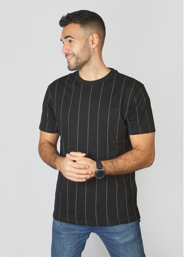 Black t-shirt with lines
