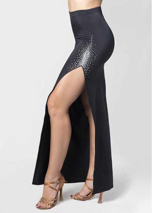 51a26cfd2 Falda abertura pierna negra