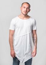 Camiseta zip asimétrica negra