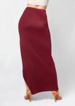 Falda abertura pierna burdeos